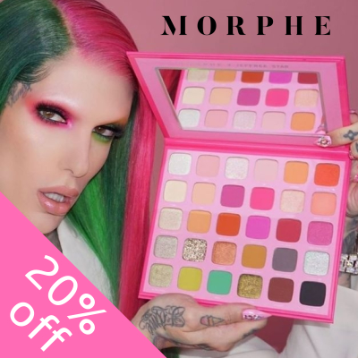 20% off Morphe - includes Jeffree Star Collection