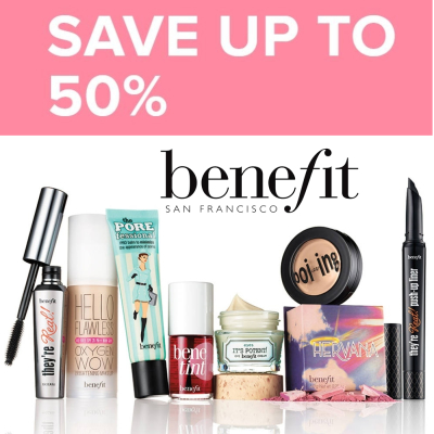 Benefit Sale - up to 50% off