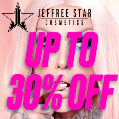 Up to 30% off Jeffree Star