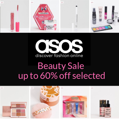 Up to 60% off selected Beauty &, Makeup at asos
