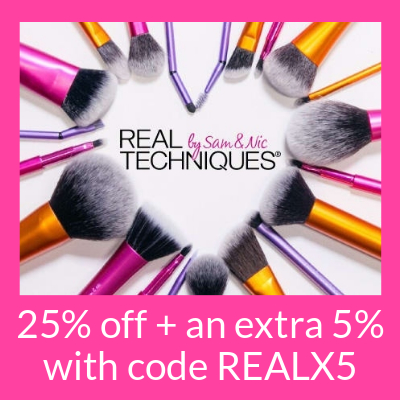 25% off Real Techniques + an extra 5% off