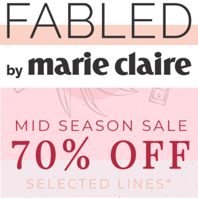 Fabled by Marie Claire Mid Season Beauty sale - up to 70% off