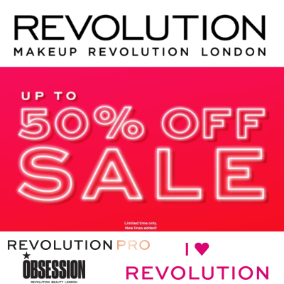 Revolution Sale - up to 50% off