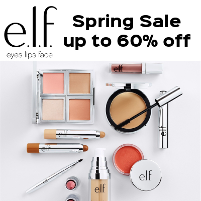 e.l.f Spring Sale - up to 60% off
