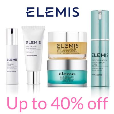 Up to 40% off Elemis