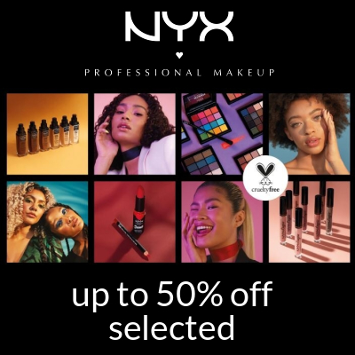 50% off selected NYX at Cult Beauty