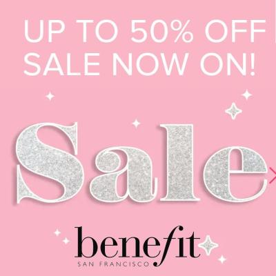 Benefit - upto 50% off Sale