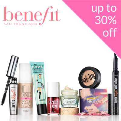 Up to 30% off Benefit