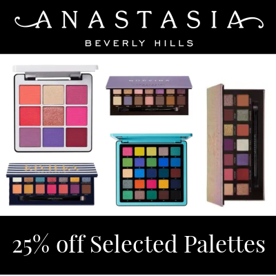 25% off Selected Anastasia Beverly Hills Palettes