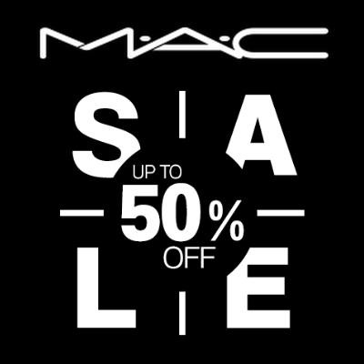 50% off selected items at MAC
