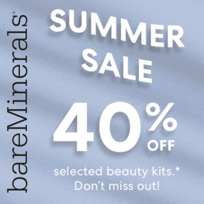 bareMinerals Summer Sale - 40% off selected kits
