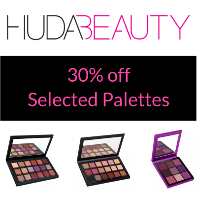 30% off selected Huda Palettes