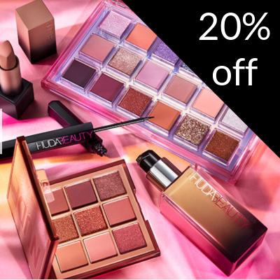 20% off Huda Beauty & Wishful
