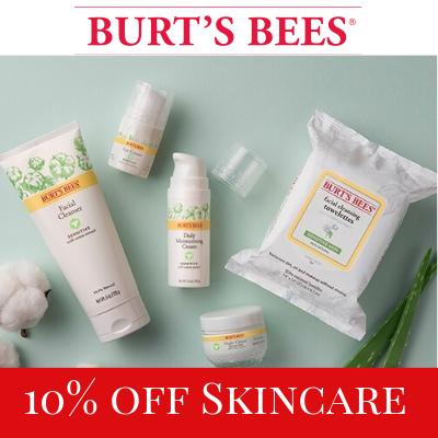 10% off Skincare at Burt's Bees