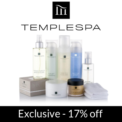 Exclusive to GlamGeek - 17% off at Temple Spa
