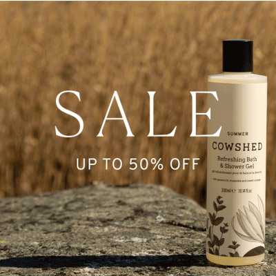 Cowshed - up to 50% off Summer Sale