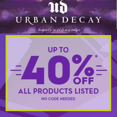 40% off selected Urban Decay products