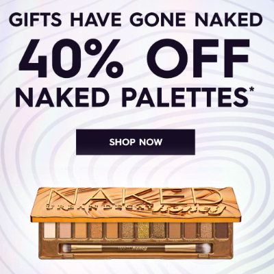 40% off Urban Decay Naked Palettes