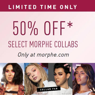 50% off select Morphe Collabs