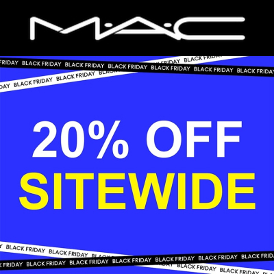 Black Friday - 20% off at MAC