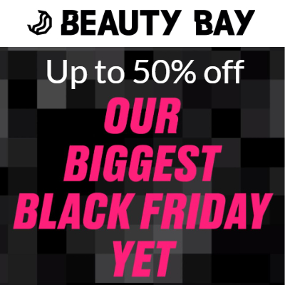 Black Friday at Beauty Bay - up to 50% off