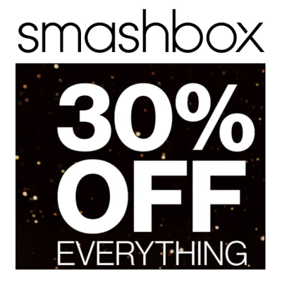 30% off everthing at Smashbox