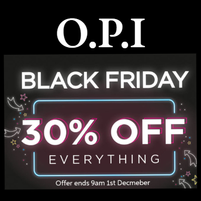 30% off everything at OPI