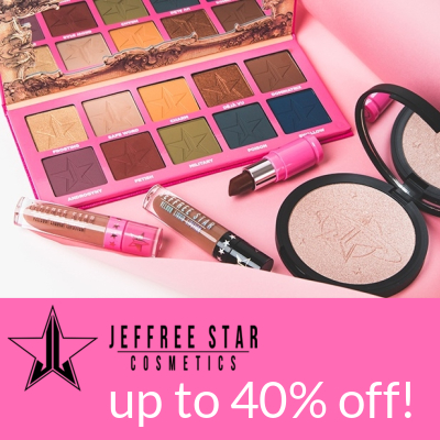 Up to 40% off Jeffree Star