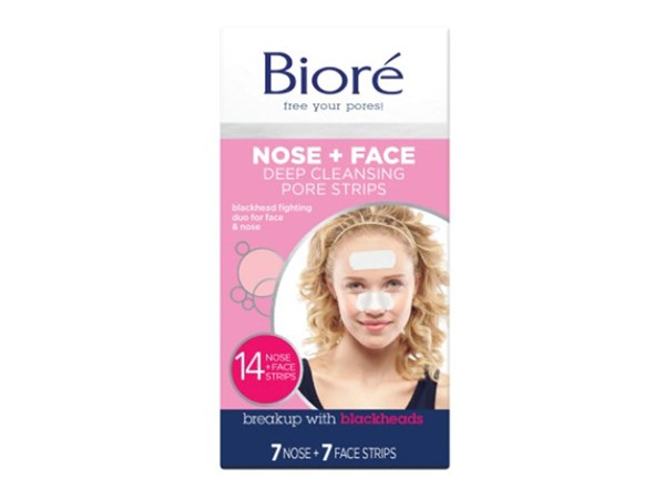 Biore Deep Cleansing Pore Strips Combo 7 Nose Strips & 7 Face Strips