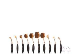 BaByliss PRO Complete Ova Brush Set - Black/Rose Gold