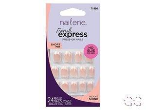 Nailene French Express Press-On Nails Short Pink