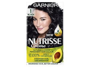 Nutrisse 1 Black Permanent Hair Dye
