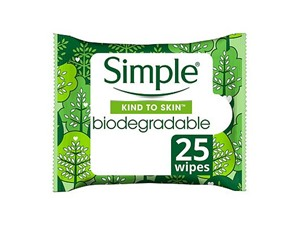 Simple Kind To Skin Biodegradable Cleansing Wipes