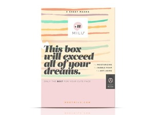 MILU This Box Will Exceed All Of Your Dreams X 3 Sheet Masks