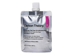 Carbon Theory Charcoal & Tea Tree Oil Mineral Mud Breakout Control Facial Wet Mask