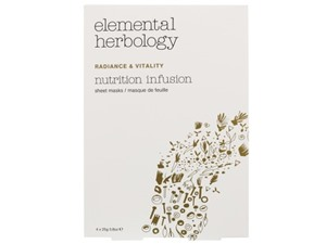 Elemental Herbology Facial Treatments Nutrition Infusion Sheet Masks 4 X 25G