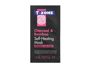 T Zone Charcoal & Bamboo Self Heating Mask