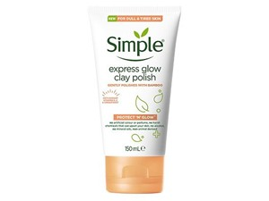Simple Protect N Glow Express Glow Clay Polish, Exfoliating Cleanser For Radiant Skin