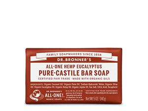Dr. Bronner All-One Hemp Eucalyptus Pure-Castile Bar Soap