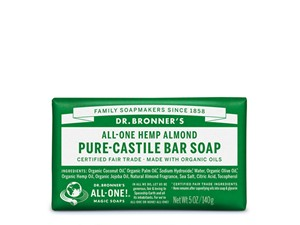Dr. Bronner All-One Hemp Pure-Castile Almond Bar Soap