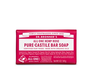 Dr. Bronner All-One Hemp Rose Pure-Castile Bar Soap