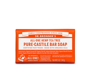 Dr. Bronner All-One Hemp Tea Tree Pure-Castile Bar Soap