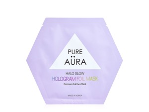 Pure Aura Halo Glow Hologram Foil Mask Sheet