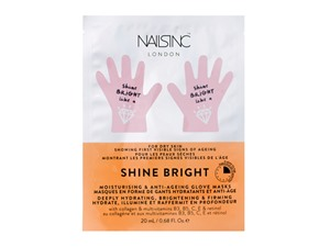 Nailsinc Shine Bright Moisturising & Anti-Ageing Glove Masks - Deeply Hydrating, Brightening & Firming