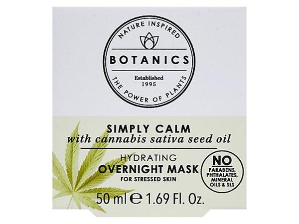 Botanics Simply Calm Hydrating Overnight Mask With Cannabis Sativa Seed Oil