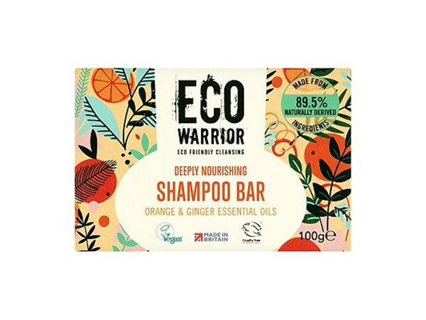 Eco Warrior Deeply Nourishing Shampoo Bar - Orange & Ginger Essential Oils