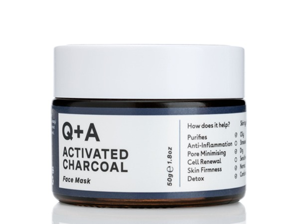 Q+A Activated Charcoal Face Mask