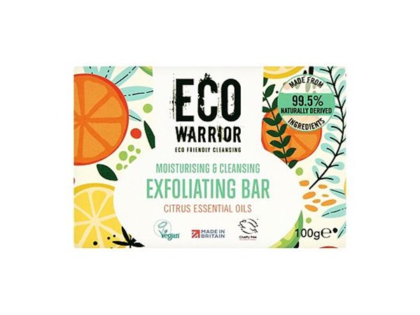 Eco Warrior Moisturising & Cleansing Exfoliating Bar - Citrus Essential Oils