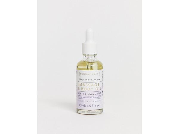 Sunday Rain Massage Oil White Jasmine-No Colour
