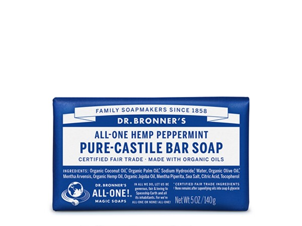 Dr. Bronner All-One Hemp Peppermint Castile Bar Soap